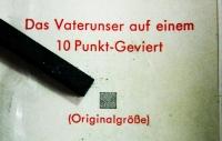 Das kleinste Buch der Welt - Unser Vater Druckletter (kaufen)