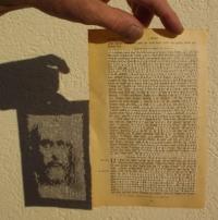 Bibelseite mit Jesus-Lichtbild (kaufen)