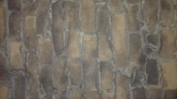 Mauer Stoffdruck braun (mieten)
