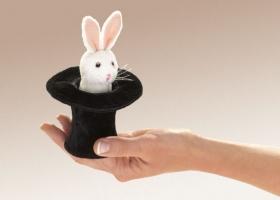 Hase im Hut Mini Fingerpuppe (kaufen)