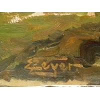 Ölbild Pferde vor Pflug  (kaufen)