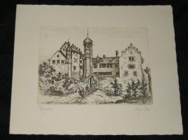 Radierung Schloss Bürglen (kaufen)